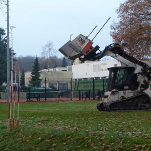 aanleg nieuwe tennisbaan