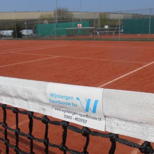 gravel tennisbaan Wijnbergen Sportbouw